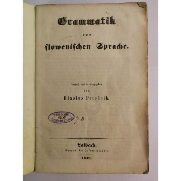 Grammatik der slowenischen Sprache